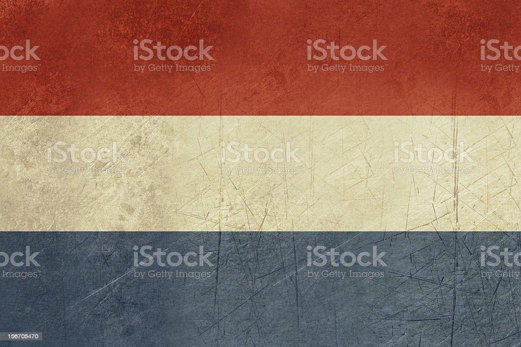 Grunge Netherlands Flag royalty-free stock vector art