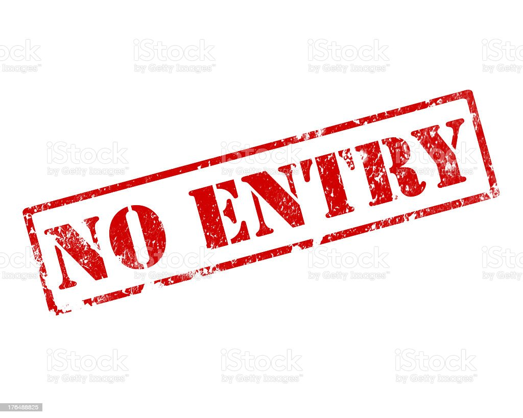 grunge no entry stamp royalty-free stock vector art