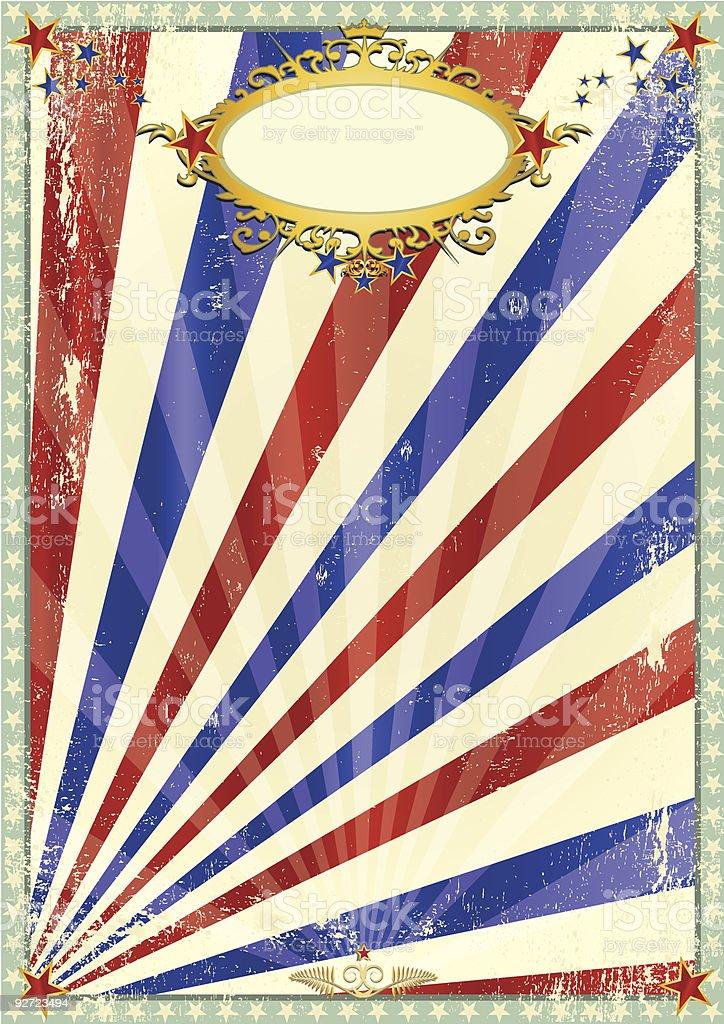grunge old circus background vector art illustration