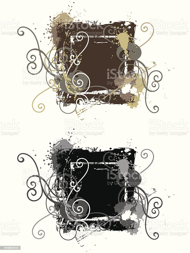 Grunge Ornamental Frame Series royalty-free stock vector art