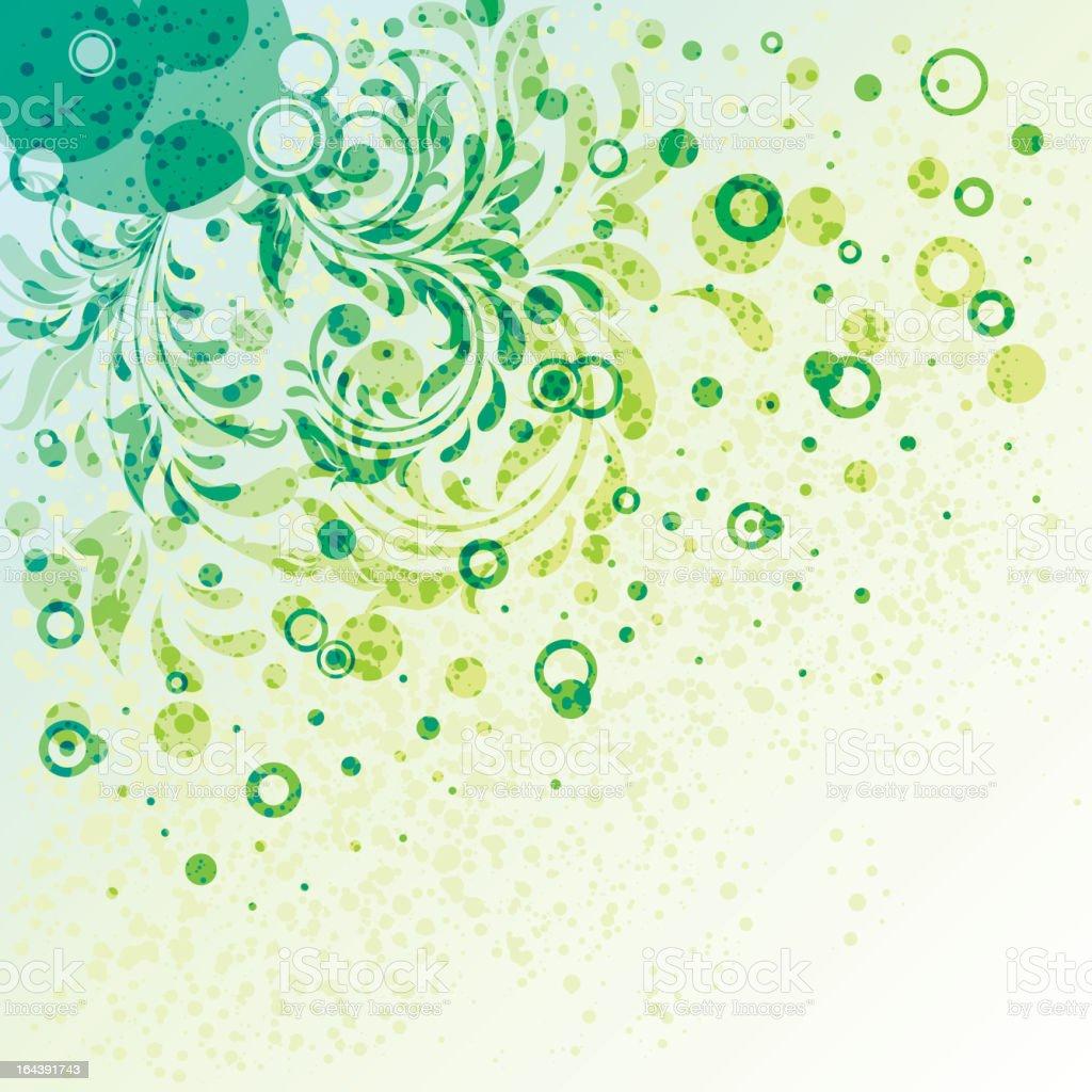 Grunge ornate background royalty-free stock vector art