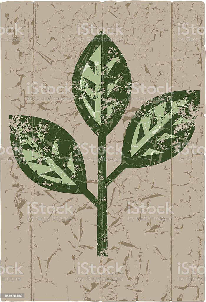 Grunge painted branch royalty-free stock vector art