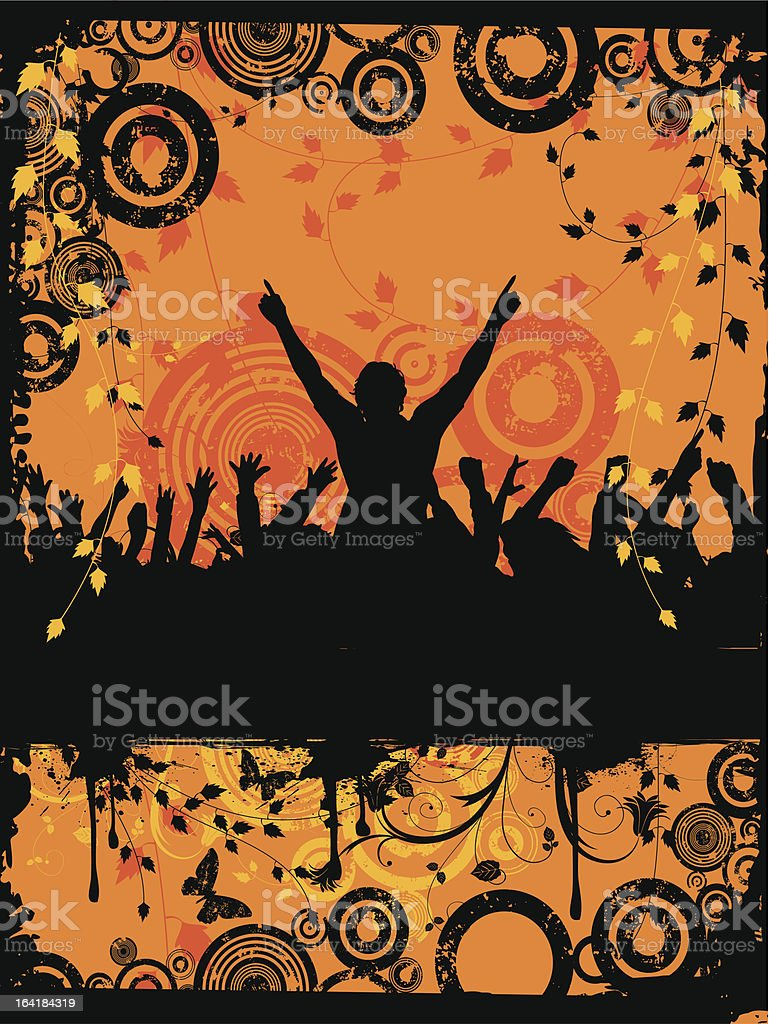 Grunge party royalty-free stock vector art