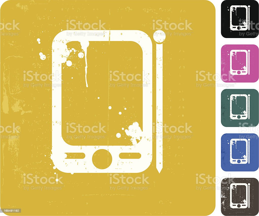 Grunge Pda Icon royalty-free stock vector art
