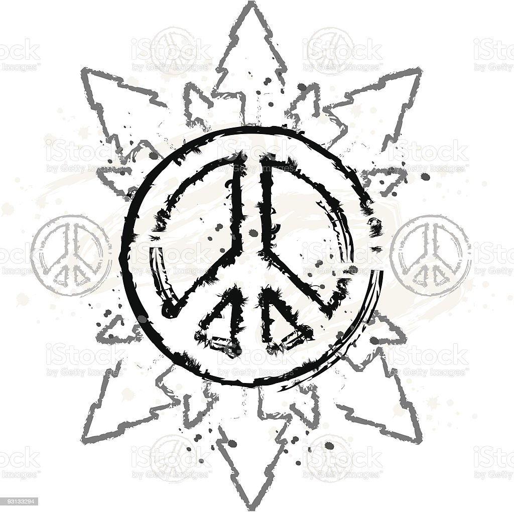Grunge Peace and Nature Design royalty-free stock vector art