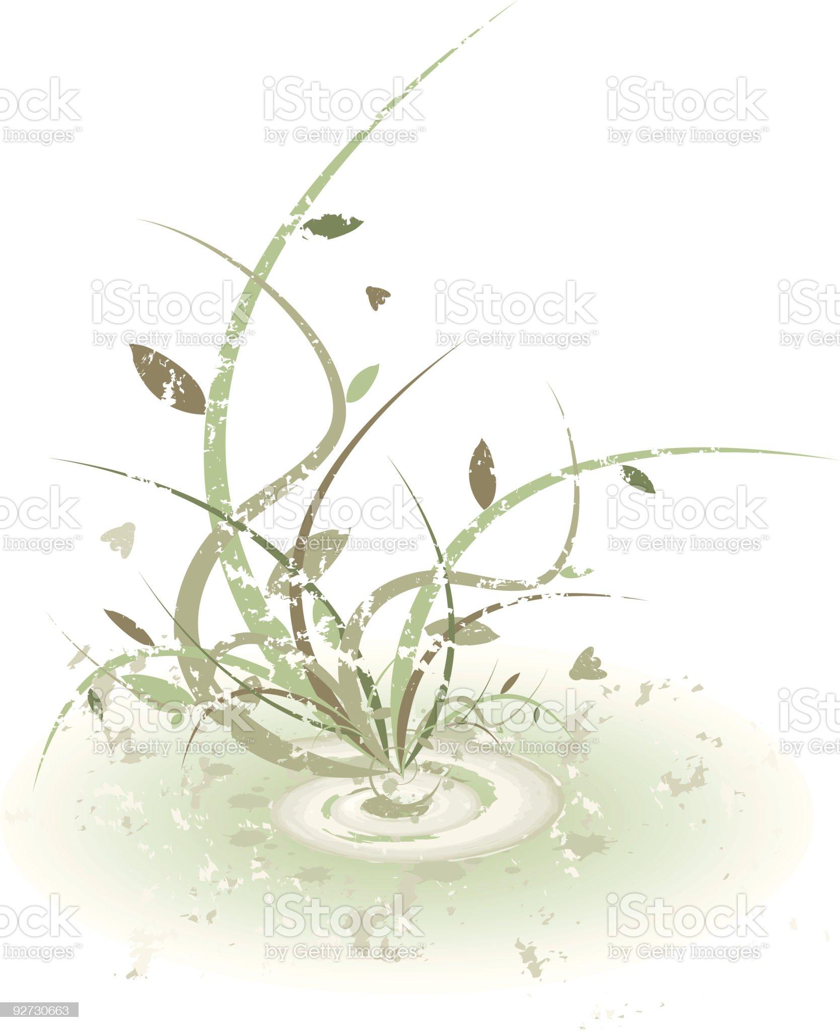 Grunge plant design royalty-free stock vector art