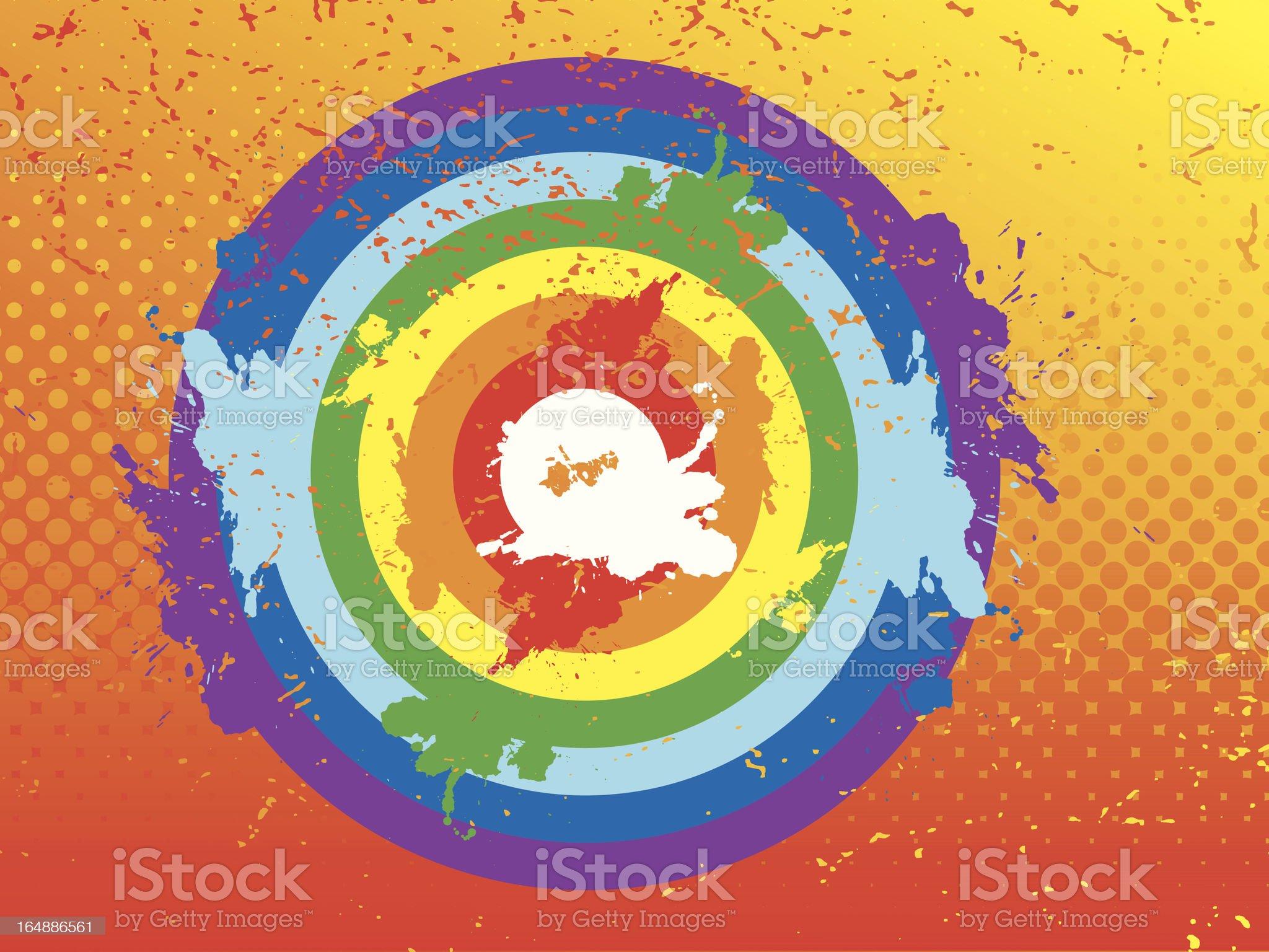 Grunge rainbow target royalty-free stock vector art