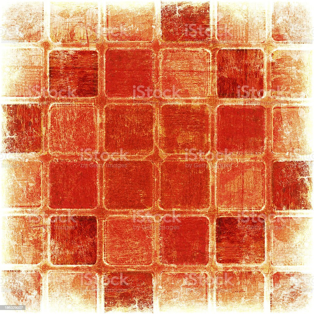 grunge red squares royalty-free stock vector art