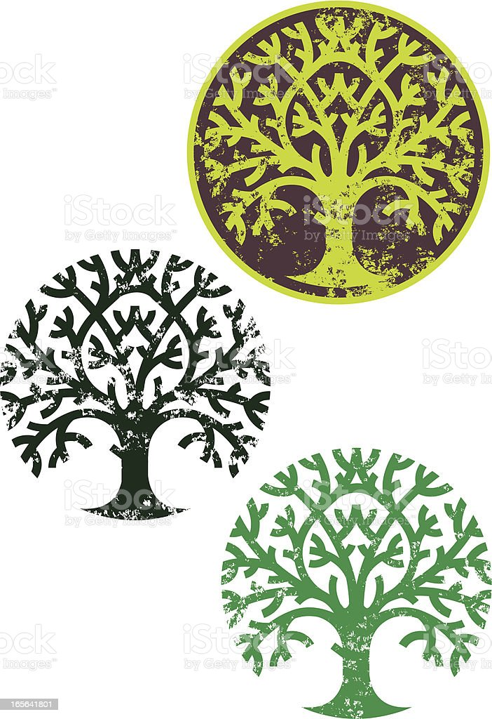 Grunge round tree royalty-free stock vector art