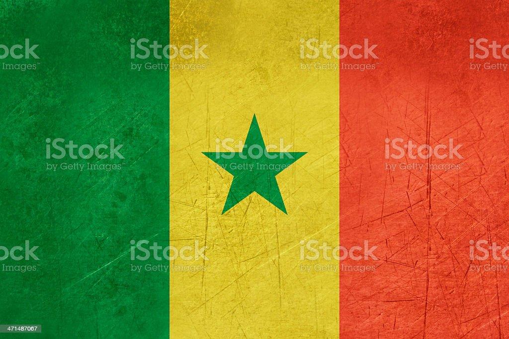 Grunge Senegal Flag royalty-free stock vector art