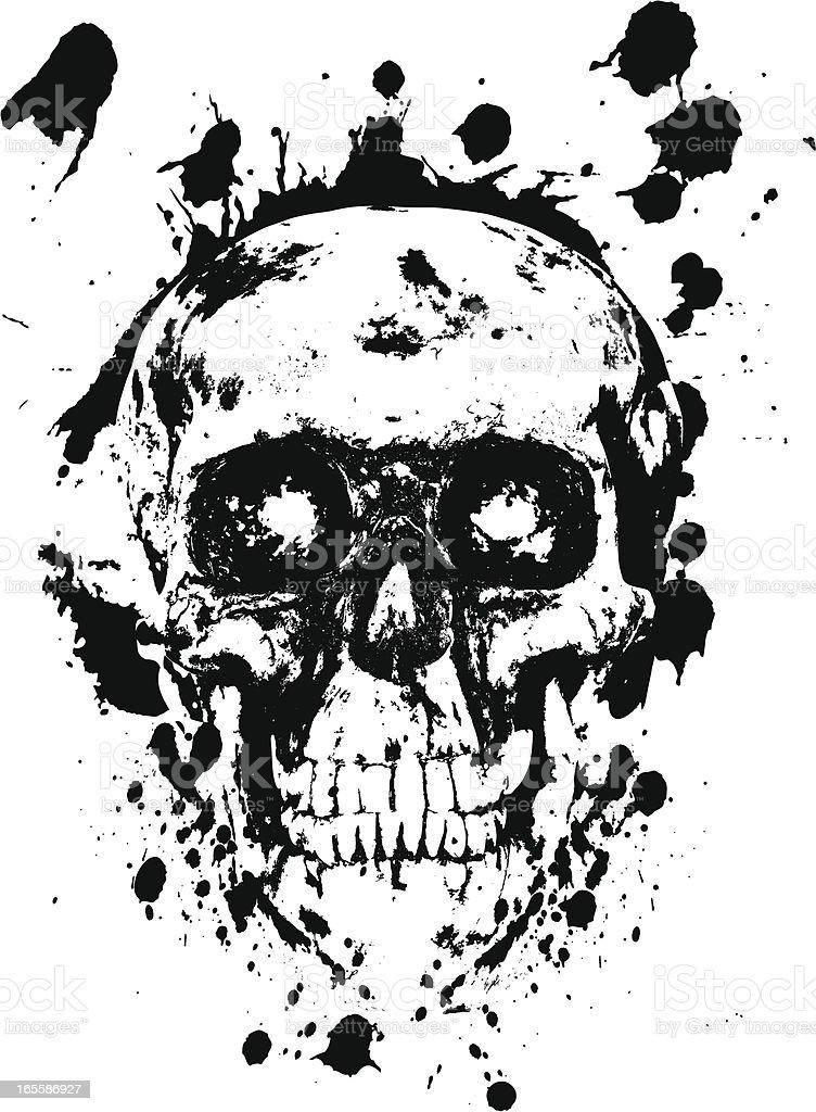 Grunge Skull royalty-free stock vector art