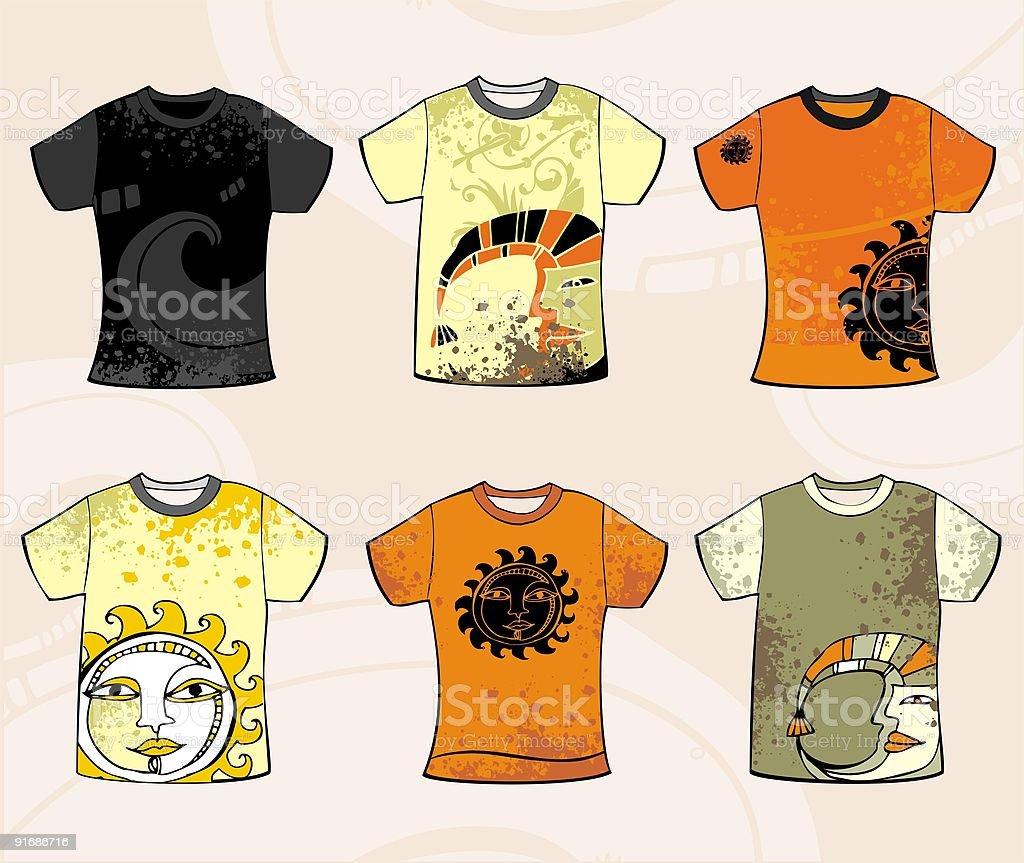 Grunge solar t-shirt design. royalty-free stock vector art