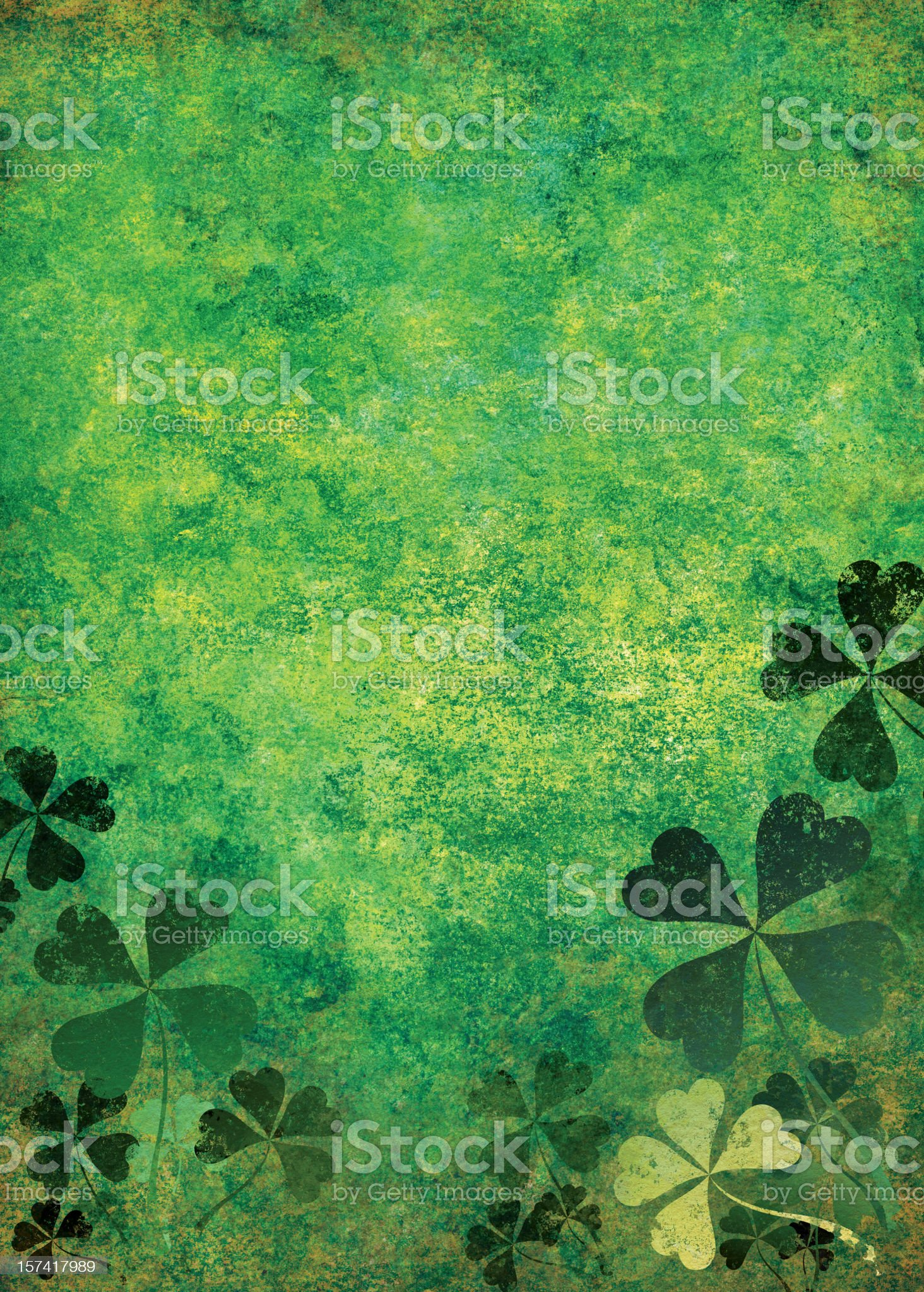 grunge st. patrick day background royalty-free stock vector art