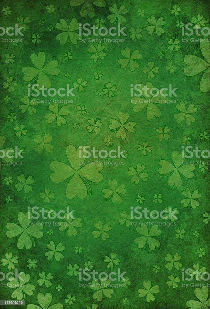 grunge st. patrick day background vector art illustration