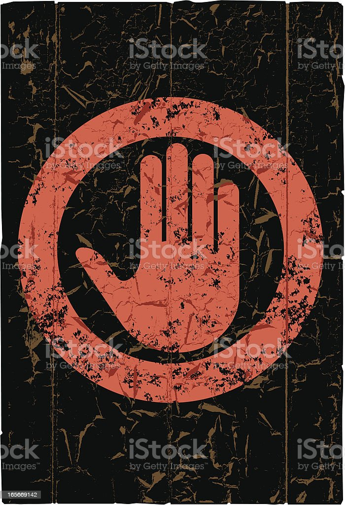 Grunge stop sign. royalty-free stock vector art