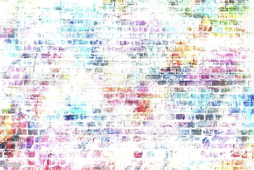grunge style colorful wall background vector art illustration