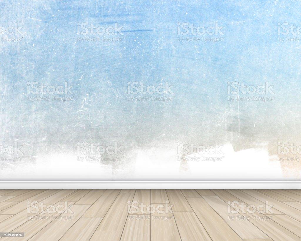 Grunge style interior vector art illustration