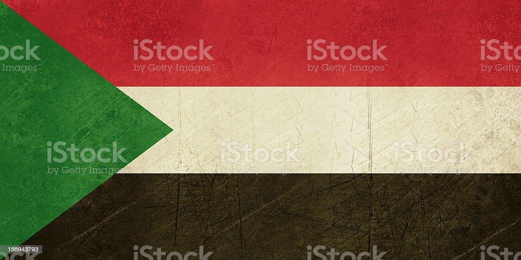 Grunge Sudan Flag royalty-free stock vector art
