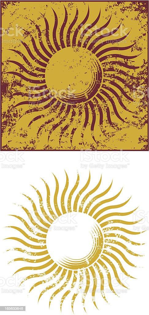 Grunge sun four royalty-free stock vector art