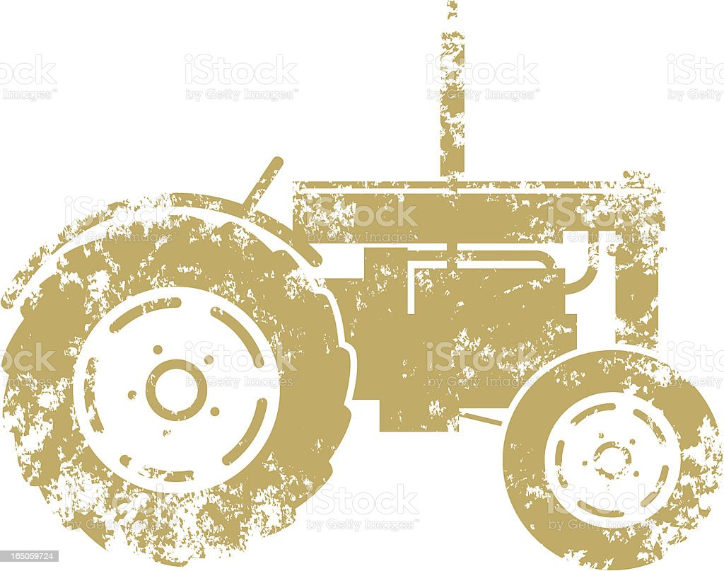 Grunge tractor royalty-free stock vector art