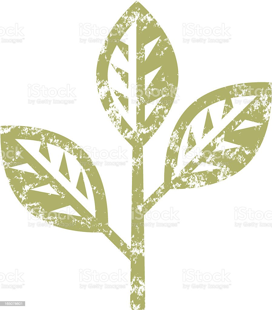 Grunge twig royalty-free stock vector art