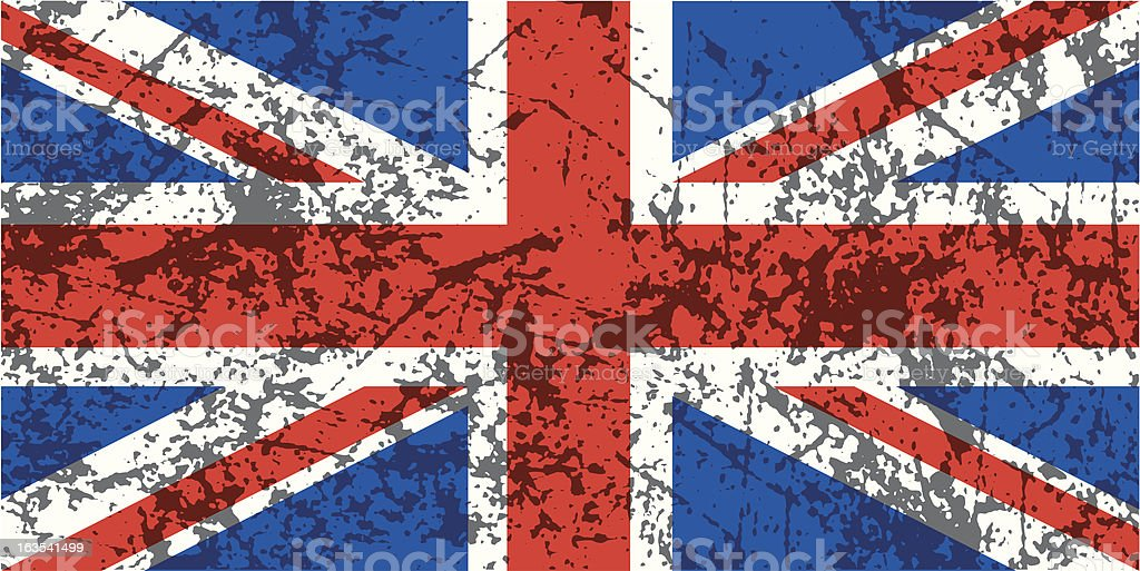 Grunge Union Jack royalty-free stock vector art