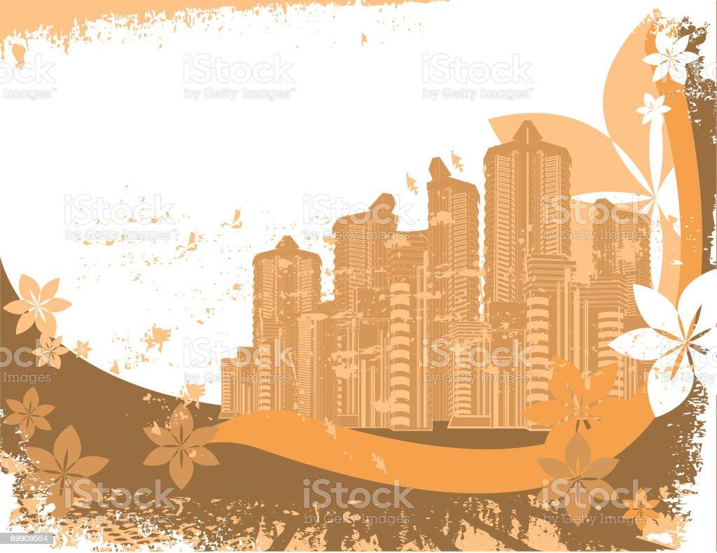 Grunge Urban Scene royalty-free stock vector art