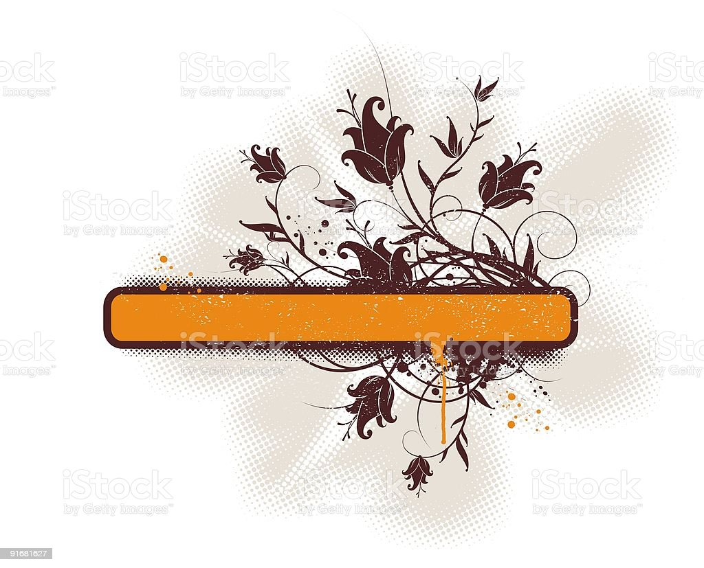 Grunge vector floral frame royalty-free stock vector art