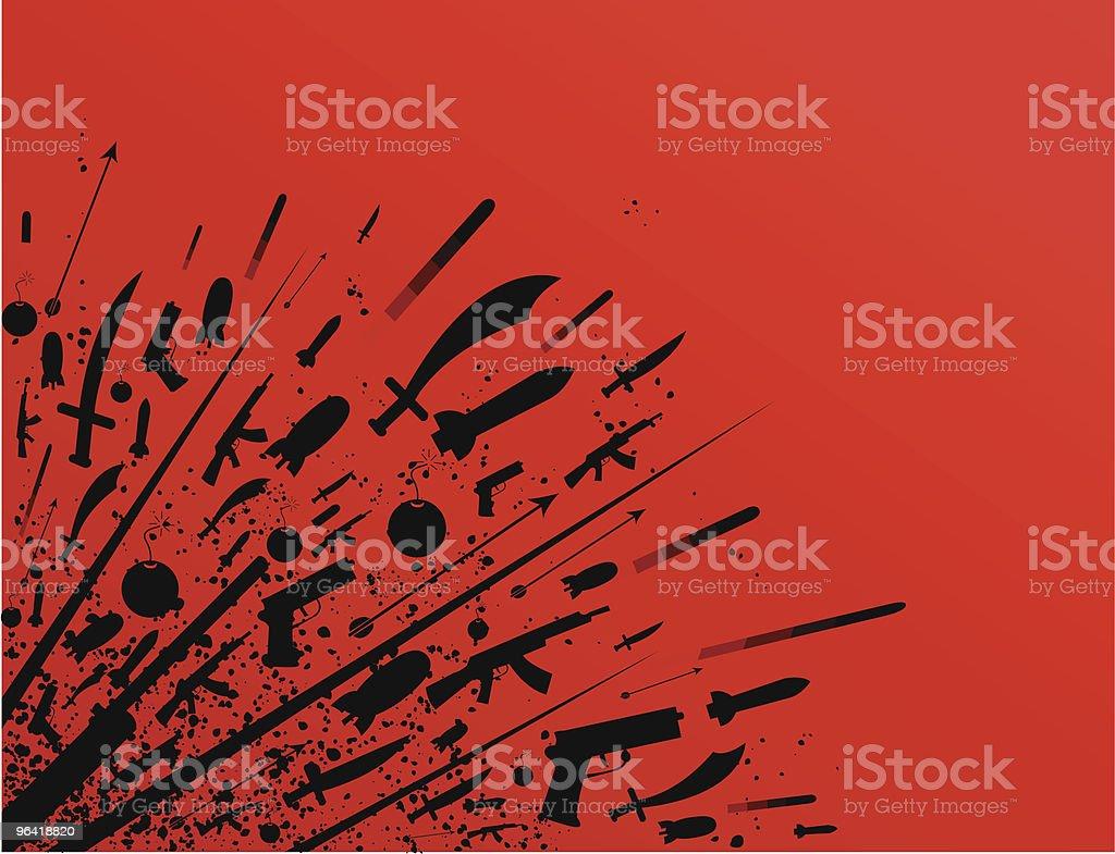 Grunge War [vector] royalty-free stock vector art