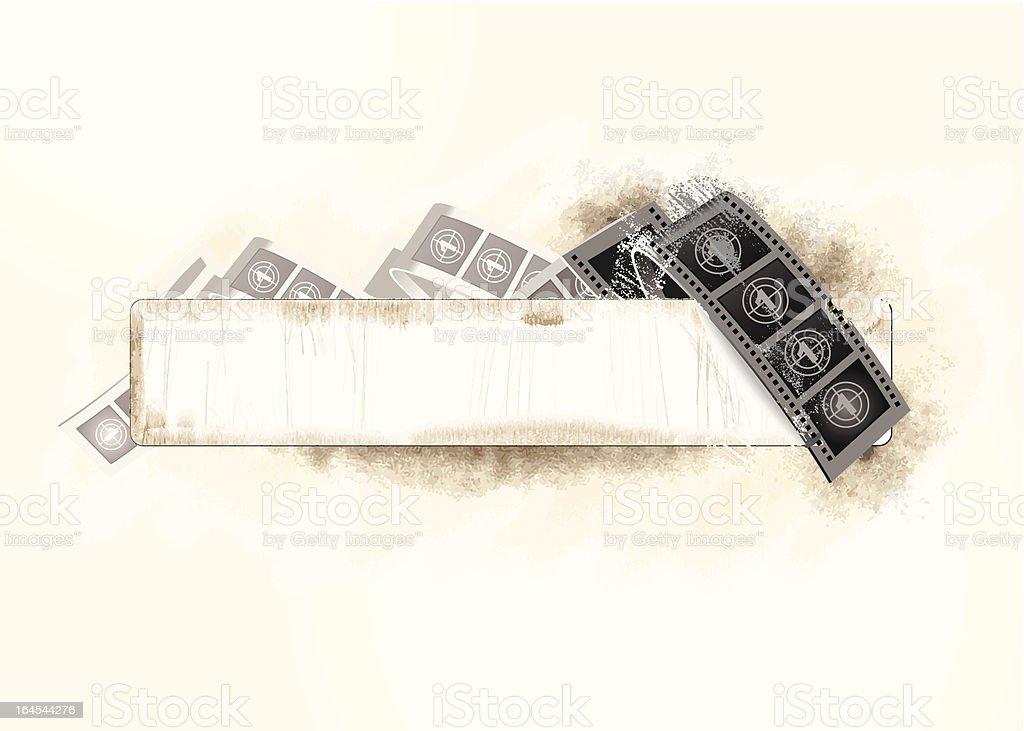 Grunged film banner vector art illustration