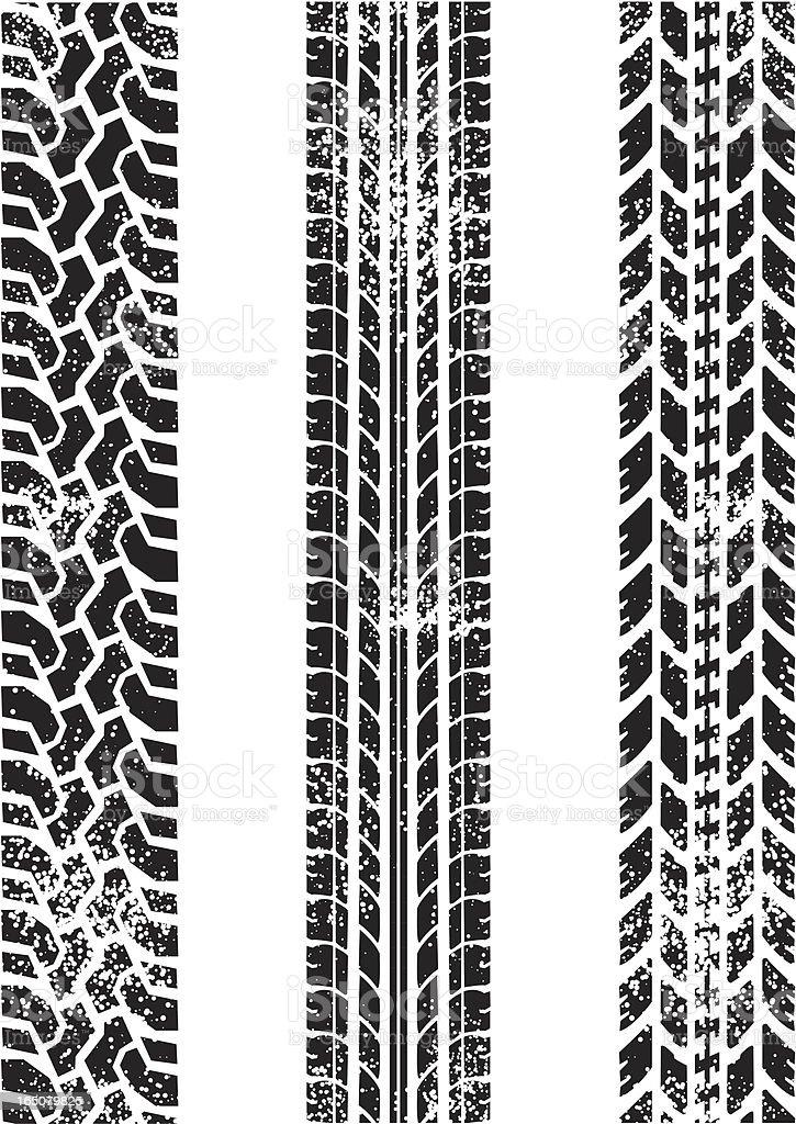 grunged tread vector art illustration