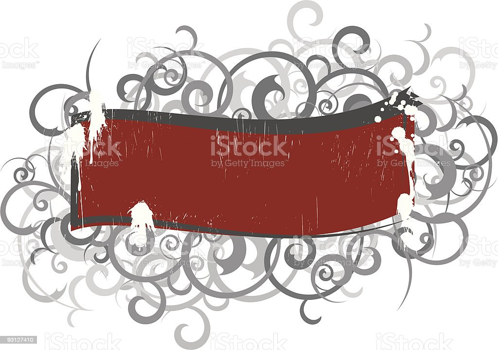 Grungy crest royalty-free stock vector art
