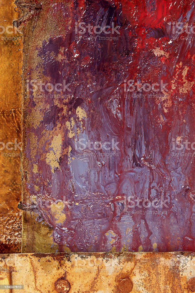 Grungy painted background vector art illustration