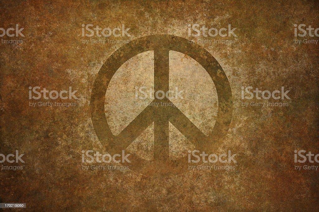 grungy peace symbol royalty-free stock vector art
