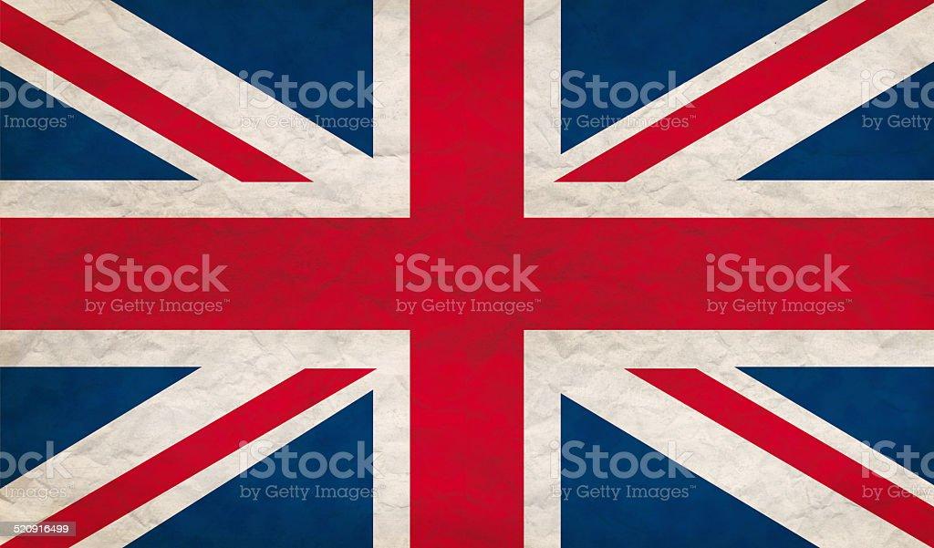 Grungy UK flag vector art illustration