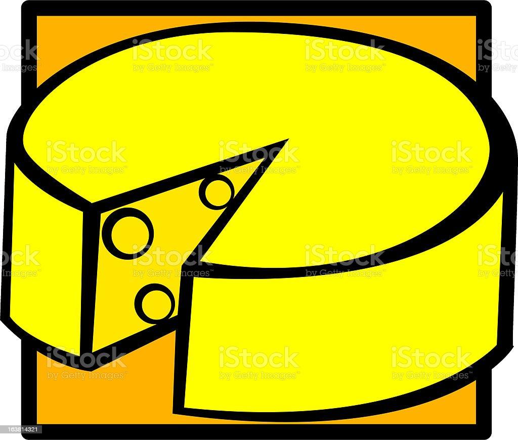 gruyere cheese royalty-free stock vector art