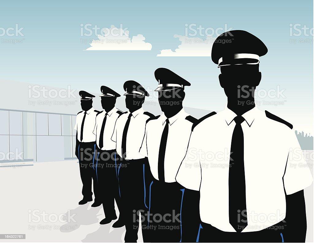 Guard Team vector art illustration