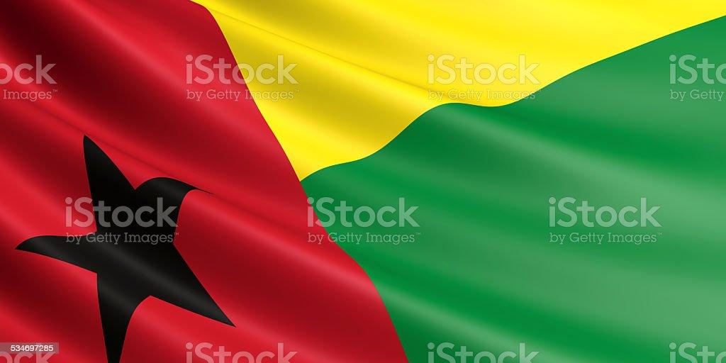 Guinea-Bissau flag. royalty-free stock vector art