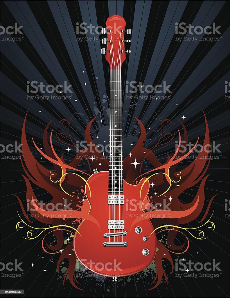 Guitar Art royalty-free stock vector art