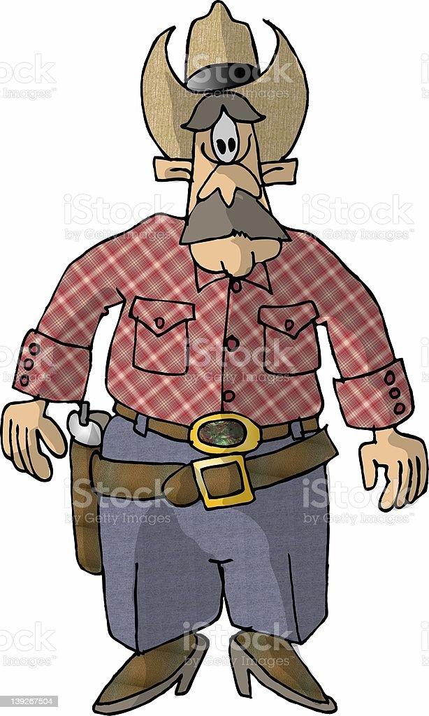 Gunslinger vector art illustration