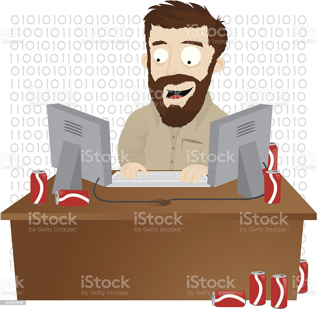 IT Guy royalty-free stock vector art