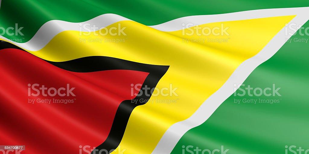 Guyana flag. royalty-free stock vector art