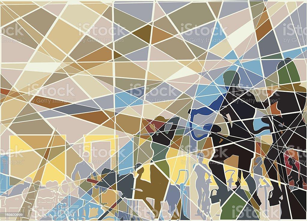 Gymnasium mosaic royalty-free stock vector art