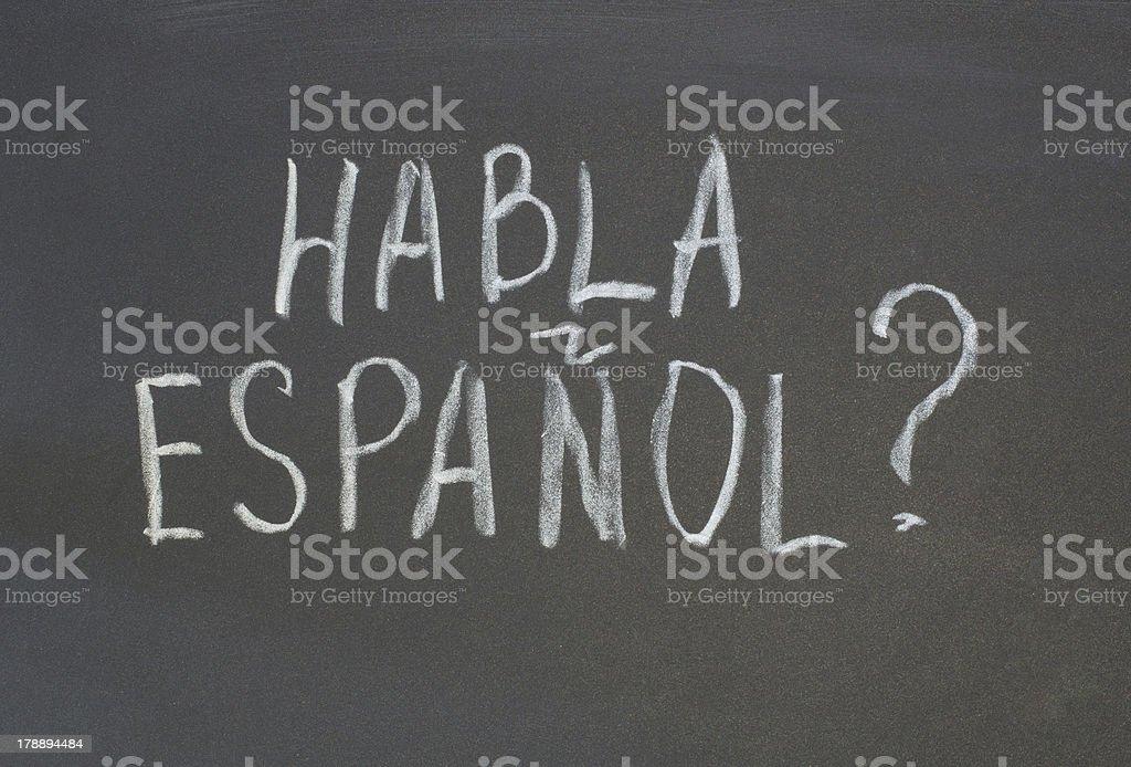 habla espanol royalty-free stock vector art