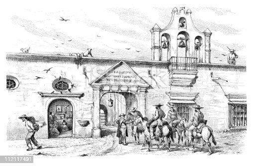 Hacienda Of Tepenacasco In Hidalgo Mexico Circa 1880s