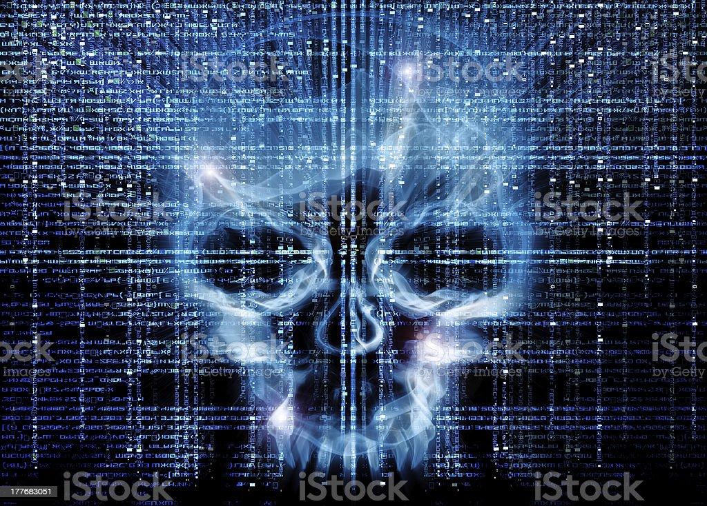 hacker attack background vector art illustration