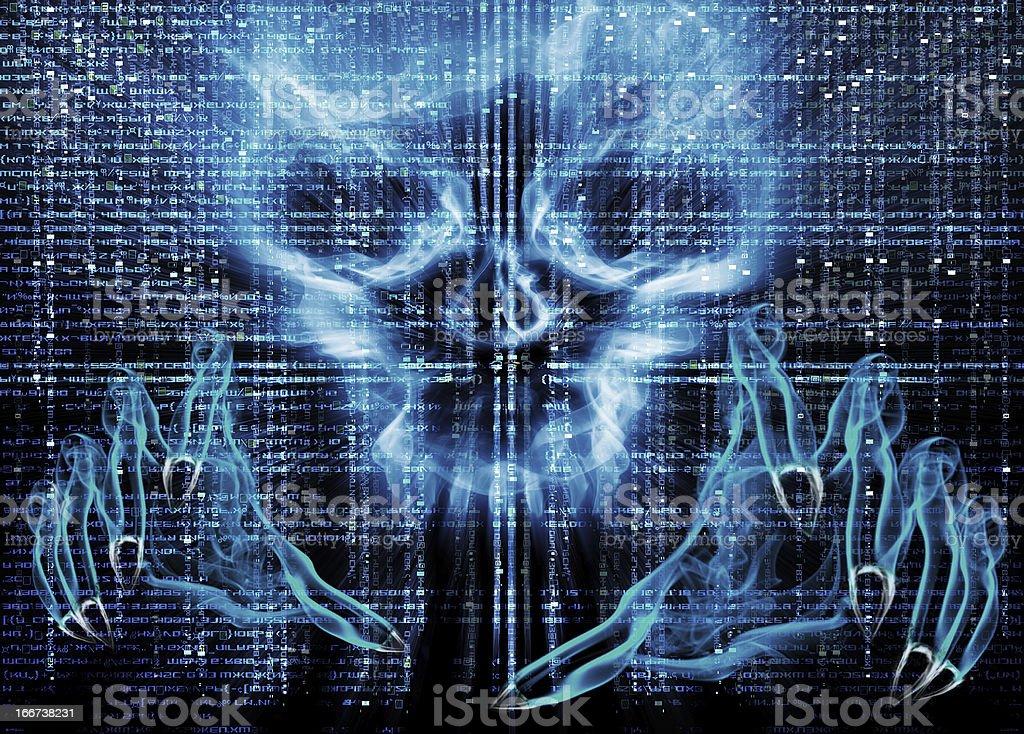 hacker attack concept royalty-free stock vector art