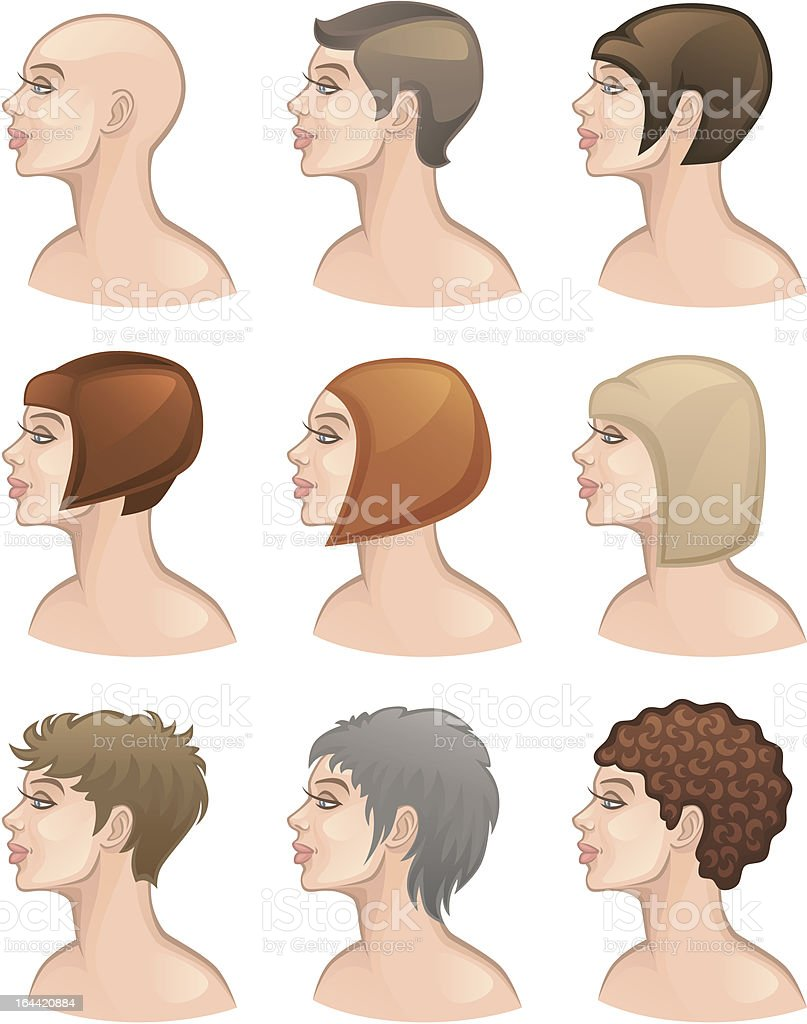 Hair Style vector art illustration