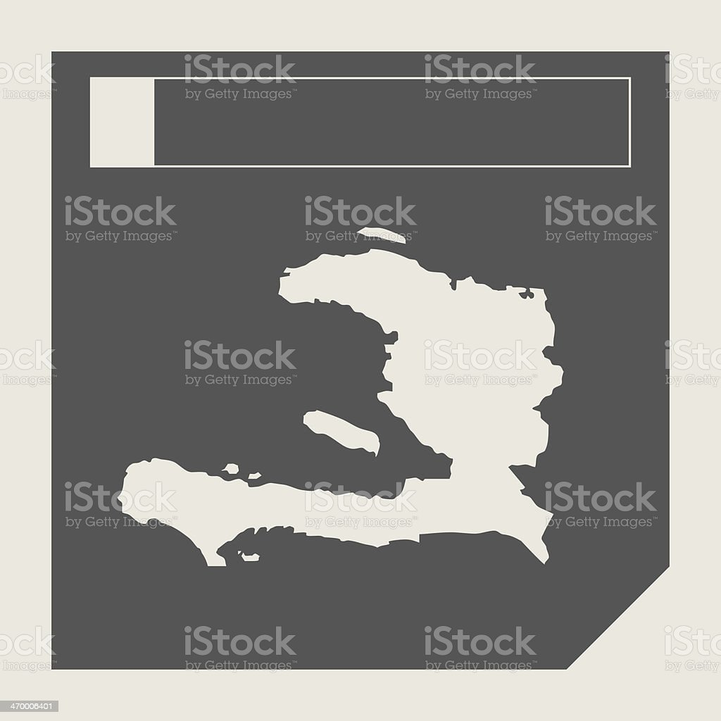 Haiti map button vector art illustration