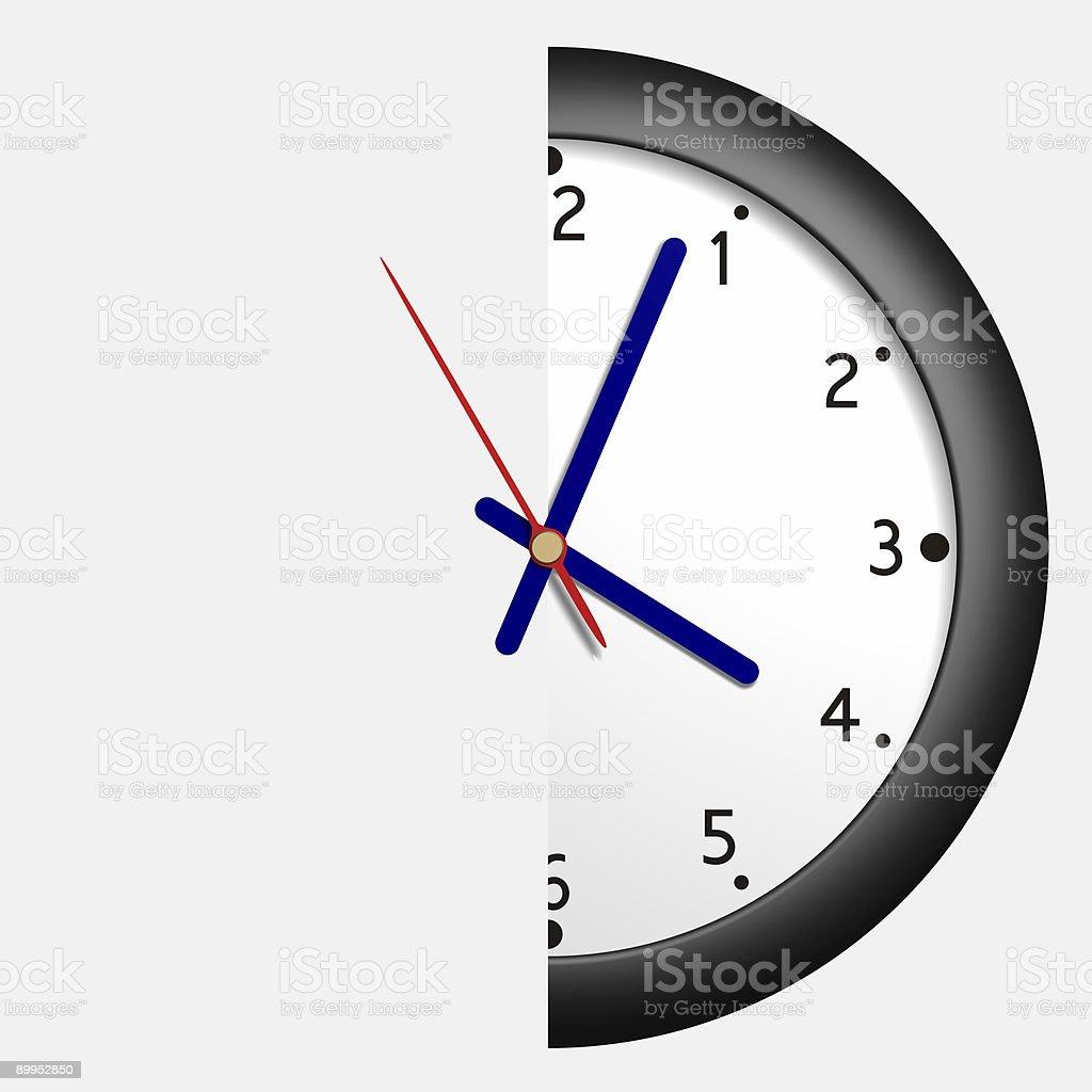 Half hour royalty-free stock vector art
